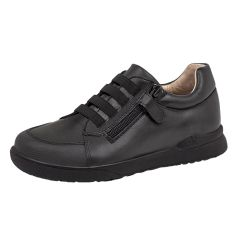 SHOES - Boys Elastic Laces with Side Zip Leather Shoe