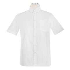 SHIRTS - Short Sleeve Oxford Shirt with Button Down Collar - Unisex