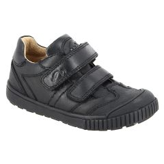 SHOES - Boys Double Velcro Leather shoe with Sporty Sole